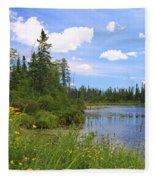 Little Iron Lake Fleece Blanket