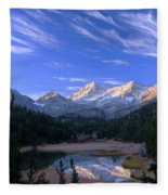 Little Lakes Valley Panorama Fleece Blanket