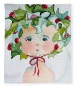 Little Miss Innocent Ivy Fleece Blanket