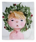 Little Miss Merry Fleece Blanket