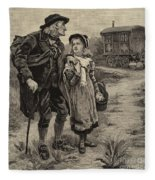 Little Nell And Her Grandfather  Fleece Blanket