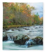 Little Pigeon River Great Smoky Mountains National Park In Fall Fleece Blanket