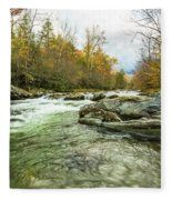 Little Pigeon River Greenbrier Area Of Smoky Mountains Fleece Blanket