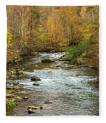 Little Pigeon River In Fall Smoky Mountains National Park Fleece Blanket