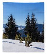 Little Pine Forest - Impressions Of Mountains Fleece Blanket