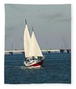 Little Red Boat Fleece Blanket