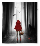 Little Red Riding Hood And The Wolf Fleece Blanket