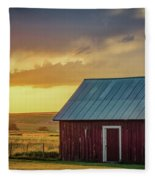 Little Red Shed Fleece Blanket