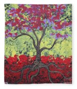 Little Red Tree Fleece Blanket