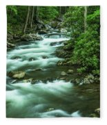 Little River Tremont Area Of Smoky Mountains National Park Fleece Blanket