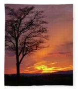 Little Round Top Sunset Fleece Blanket