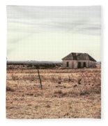 Little Shack On The Prairie Fleece Blanket