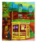 Little Shop On The Corner Fleece Blanket
