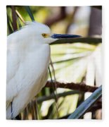 Little Snowy Egret Fleece Blanket