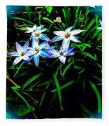 Little Star Wind Flowers Fleece Blanket