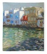 Little Venice Mykonos Fleece Blanket