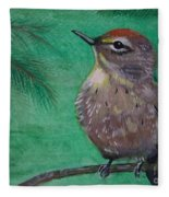Little Warbler Fleece Blanket