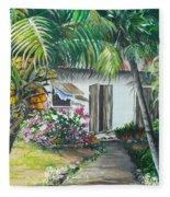 Little West Indian House 2...sold Fleece Blanket