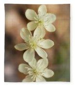 Little White Wildflowers  Fleece Blanket