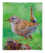 Little Wren Fleece Blanket