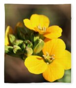 Little Yellow Flowers Fleece Blanket