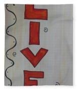 Live Acrylic Watercolor Fleece Blanket