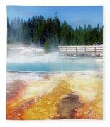 Live Dream Own Yellowstone Park Black Pool Text Fleece Blanket