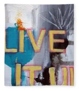 Live It Up Fleece Blanket