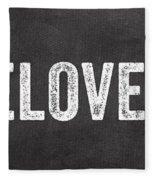Live Love Bake Fleece Blanket