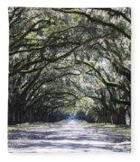 Live Oak Lane In Savannah Fleece Blanket