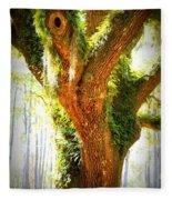 Live Oak With Cypress Beyond Fleece Blanket