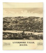 Livermore Falls Maine Fleece Blanket
