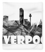 Liverpool England Skyline Fleece Blanket