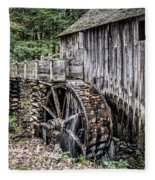Cable Mill Gristmill - Great Smoky Mountains National Park Fleece Blanket