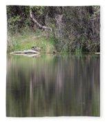 Living On The Pond Fleece Blanket
