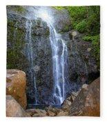 Living Waters - Wailua Falls Maui Fleece Blanket