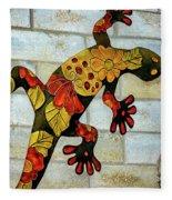 Lizard Wall Art Fleece Blanket