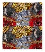Lizards In The Rain Fleece Blanket