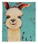 Llama Sid Fleece Blanket
