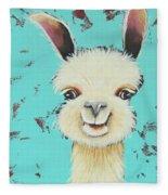 Llama Sue Fleece Blanket
