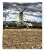 Llancayo Mill Usk 2 Fleece Blanket