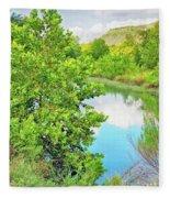 Llano River Scenic Fleece Blanket