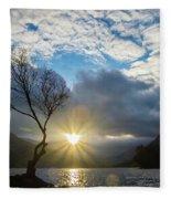 Llyn Padarn Sunburst Fleece Blanket