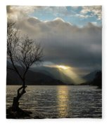 Llyn Padarn Sunrays Fleece Blanket