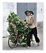 Loaded Bicycle Fleece Blanket