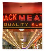 Loback Meat Co Neon Fleece Blanket