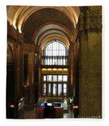 Lobby Of Woolworth Building Fleece Blanket