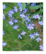 Lobelia Flowers Fleece Blanket