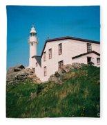 Lobster Cove Lighthouse Fleece Blanket