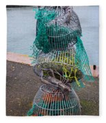 Lobster Pots Fleece Blanket